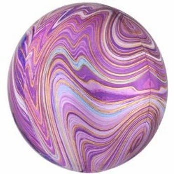 Purple Marblez Orbz Foil Balloon