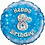 "Happy 8th Birthday 18"" Foil Balloon Blue"