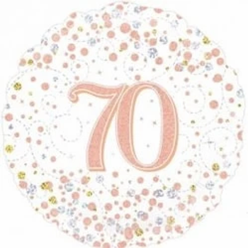 Happy 70th Birthday Rose Gold Foil Balloon