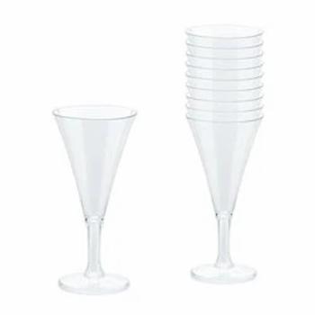 Champagne Mini Plastic Flutes