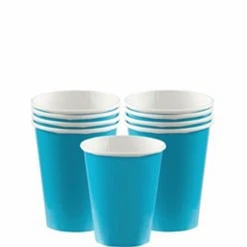 Turquoise Party Cups 266ml