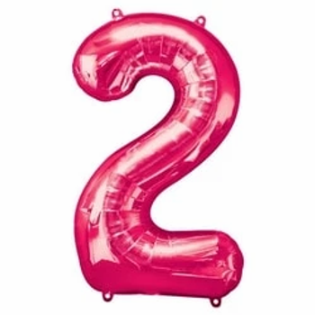 "Pink 34"" Number 2 Foil Balloon"