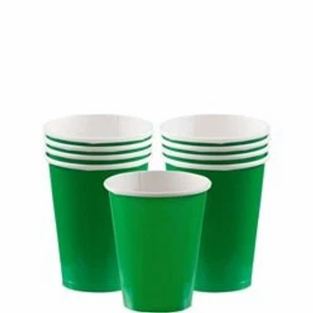 Green Party Cups 266ml