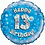 """Happy 13th Birthday Holographic 18"""" Foil Balloon Blue"""