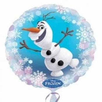 "Frozen Olaf Christmas Round Shape 18"" Foil Balloon"