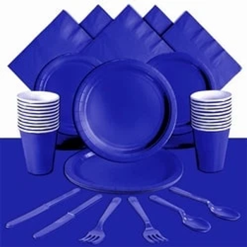 Royal Blue Tableware Party Pack For 20 People