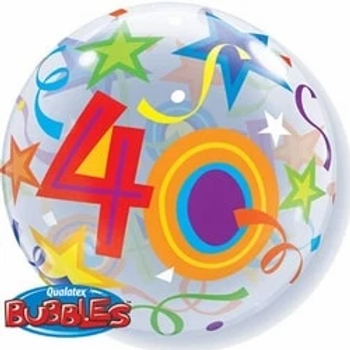 40th Birthday Bubble Balloon