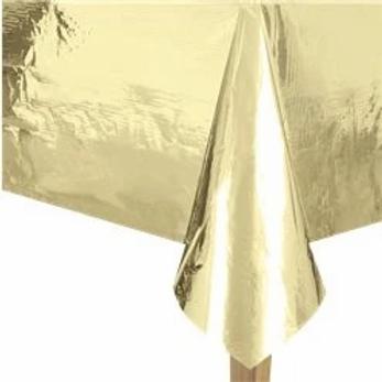 Gold Metallic Foil Tablecover
