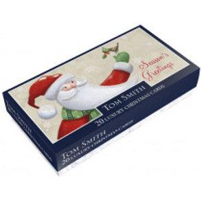 Santa And Snowman Christmas Cards