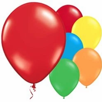 Multi Coloured Metallic Latex Balloons