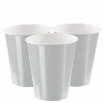 Silver Metallic Paper Cups Size 355ml