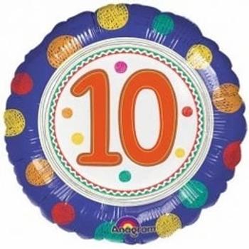 "Spot On 10th Birthday 18"" Foil Balloon"