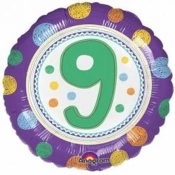 "Spot On 9th Birthday 18"" Foil Balloon"