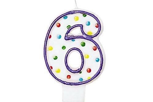 Birthday Number Polka Dot Candles