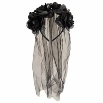 Black Bride Headband