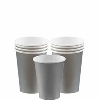 Silver Party Cups 266ml