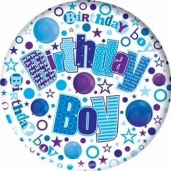 Birthday Boy Blue Jumbo Badge
