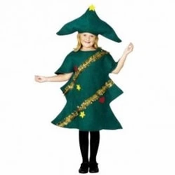 Christmas Tree Unisex Fancy Dress Child Costume