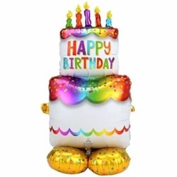 Happy Birthday Cake Air Fill Balloon