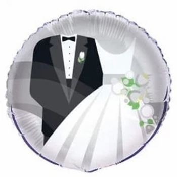 "Bride And Groom 18"" Foil Balloon"
