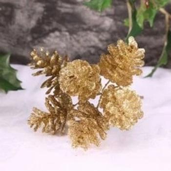 Gold Glitter Cone Bunch
