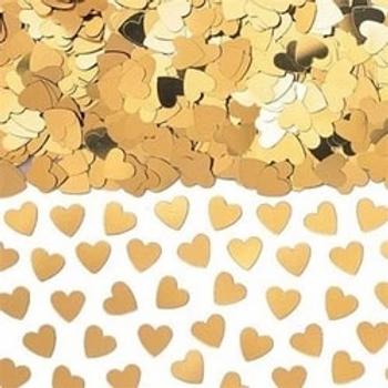 Gold Sparkle Hearts Metallic Confetti