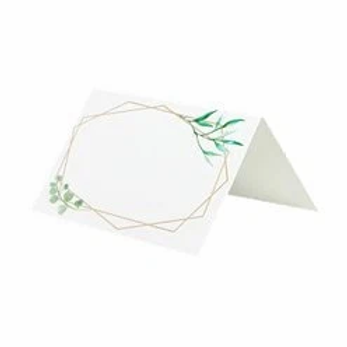 Geometric Greenery Wedding Place Cards