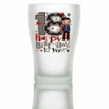 Happy Birthday Milestone Beer Glasses 18th