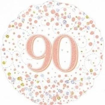 Happy 90th Birthday Rose Gold Foil Balloon