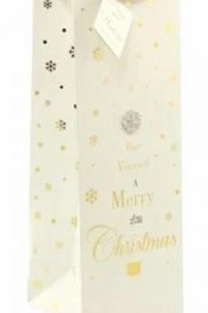 Mad Dots Christmas Bottle Gift Bag