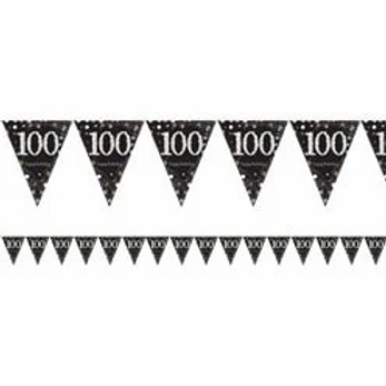 100th Prismatic Party Foil Bunting Gold