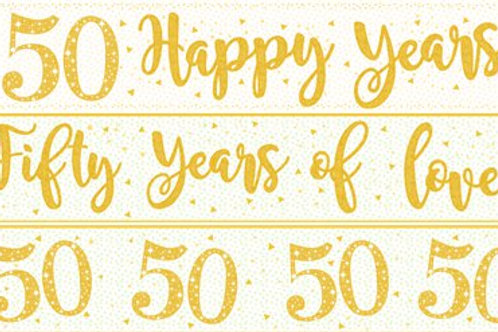 50th Wedding Anniversary Paper Banners