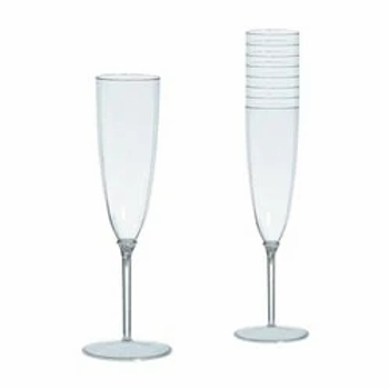 Clear Champagne Plastic Flutes