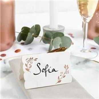 Rose Gold Folded Place Cards
