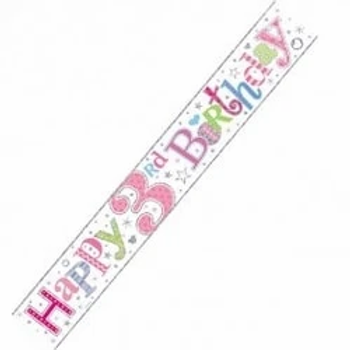 Happy 3rd Birthday Wall Party Banner