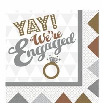 Engagement Party Paper Napkins