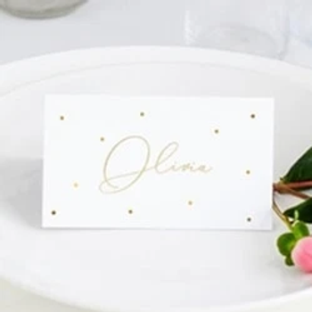 Gold Dots Place Cards