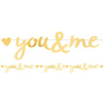 You And Me Letter Banner