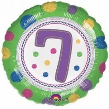"Spot On 7th Birthday 18"" Foil Balloon"