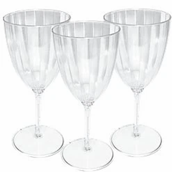 Clear Crystal Plastic Wine Glasses