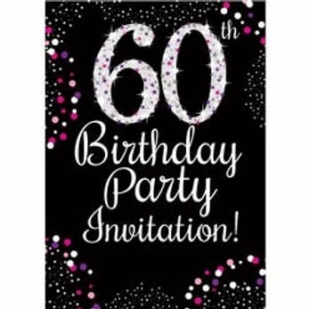 60th Birthday Party Invitations And Envelopes