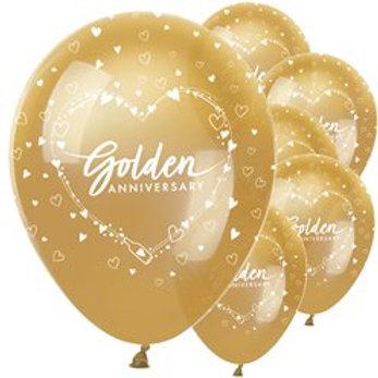 50th Golden Wedding Anniversary Balloons