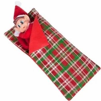 Naughty Elf Patterned Sleeping Bag