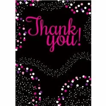 Pink Thank You Cards Size Small