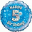 "Happy 5th Birthday 18"" Foil Balloon Blue"