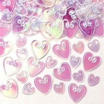 Iridescent Loving Hearts Table Confetti