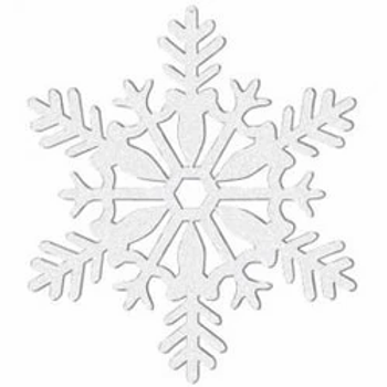 White Glitter Snowflake Hanging Decoration