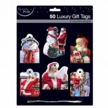 Contemporary Santa Luxury Gift Tags