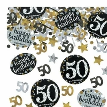 50th Birthday Sparkling Celebration Table Confetti