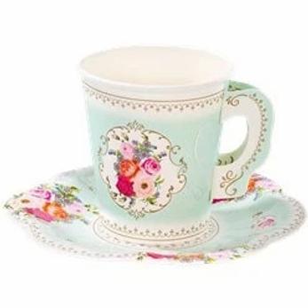 Vintage Tea Party Cups